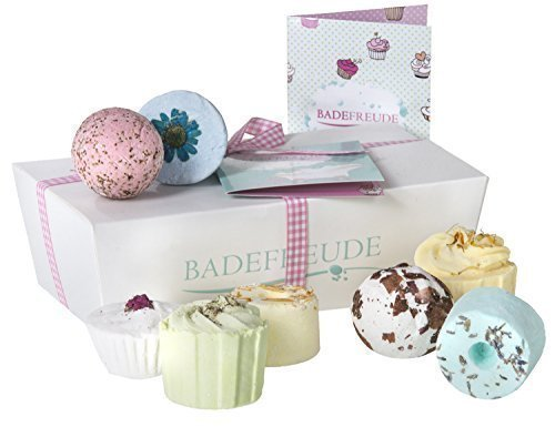 Deluxe Badebomben 8er Geschenkset Lumunu Badefreude Euphoria, 8 Badesalz...