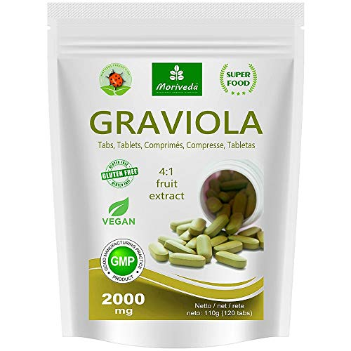 MoriVeda® - Graviola Presslinge 360 x 2000mg Frucht Extrakt 4:1 Vegan,...