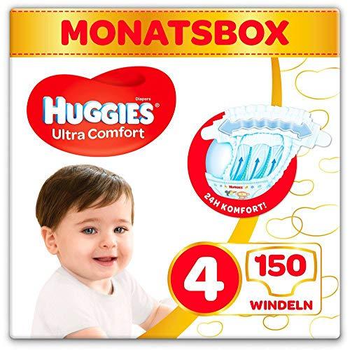Huggies Windeln Ultra Comfort Baby Größe 4 Monatsbox, 150 Stück (3 x 50...