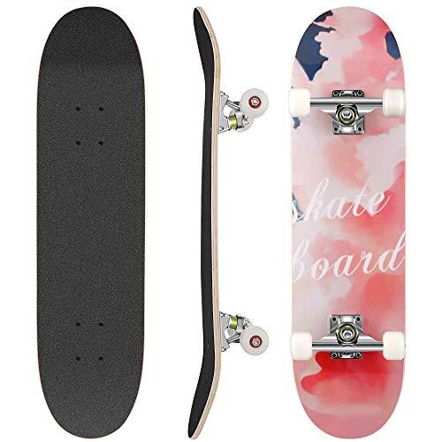 WeSkate Skateboard Komplett Board 79x20cm Holzboard ABEC-7 Kugellager 31...