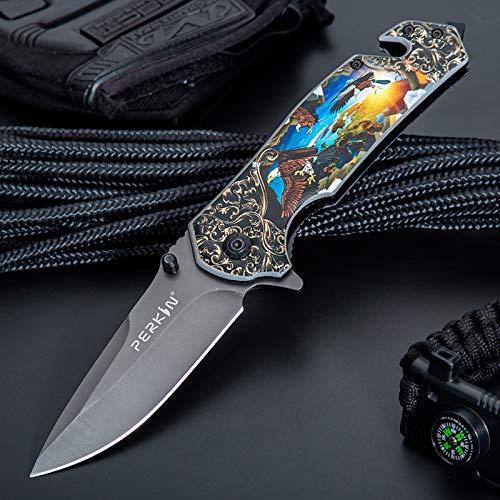 Perkin Jagdmesser Taschenmesser Klappmesser PKF1014 (Black & Blue)