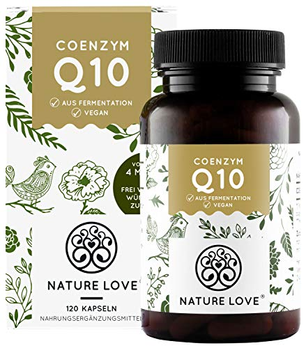 NATURE LOVE® Coenzym Q10 Hochdosiert - 200mg pro Kapsel. 120 vegane...