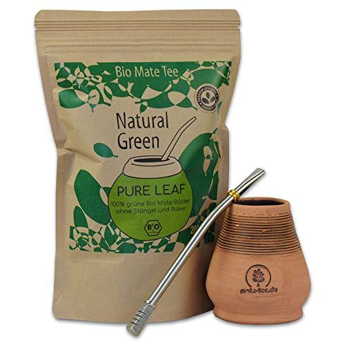 Starterset Delicatino Premium Mate Tee Natural Green 200g + Mate Keramik...