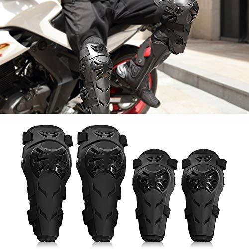 Motorrad Knieschoner und Ellenbogenschoner Set - 4 Stück verstellbare Knie...