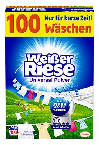 Weißer Riese Universal Pulver (100 Waschladungen), Vollwaschmittel extra...