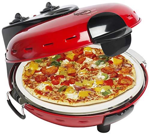 Bestron Elektrischer Pizzaofen mit Steinplatte, Viva Italia,...