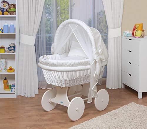 WALDIN Baby Stubenwagen-Set mit Ausstattung,XXL,Bollerwagen,komplett,44...