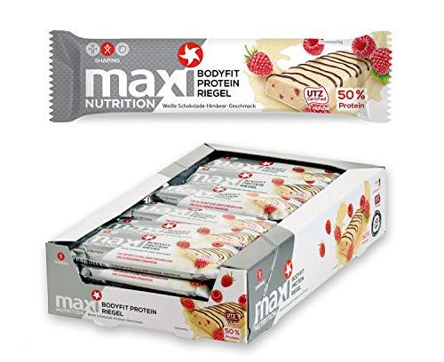 MaxiNutrition Bodyfit Proteinriegel Weiße Schokolade-Himbeere – Low...
