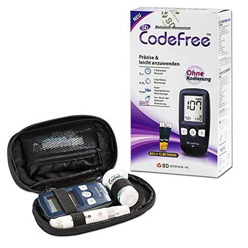 SD CodeFree Blutzuckermessgerät Set mit Teststreifen, Diabetes-Set mg/dL,...