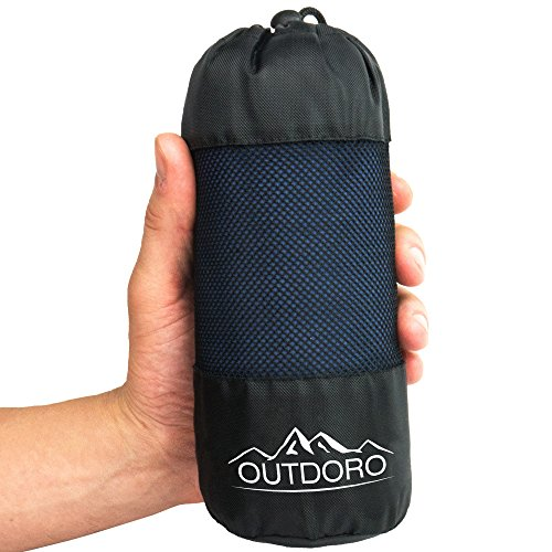 Outdoro Hüttenschlafsack, Ultra-Leichter Reise-Schlafsack - nur 350 g aus...