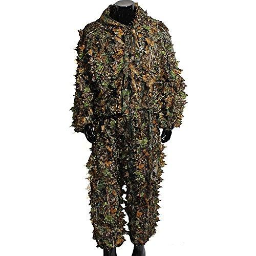3D-Tarnanzug mit Blättern, Ghillie-Anzug, für Jagd, Scharfschützen,...