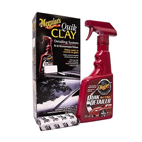 Meguiar's ME G1116 G1116EU Quik Clay Starter Kit Reinigungsknete, 80g +...