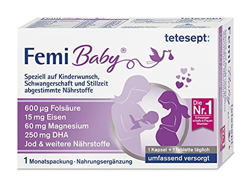 tetesept Femi Baby – 16 Nährstoffe für Kinderwunsch, Schwangerschaft &...