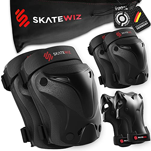 SKATEWIZ Protect-1 Skater Schutzausrüstung Kinder - Größe S in SCHWARZ -...