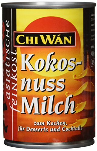 Chi Wán Kokosnussmilch, 4er Pack (4 x 400 ml)
