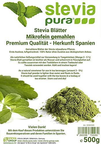 steviapura | Stevia Blätter - reines Naturprodukt - Süßkraut Stevia,...