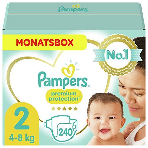 Pampers Größe 2 Premium Protection Baby Windeln, 240 Stück, MONATSBOX,...