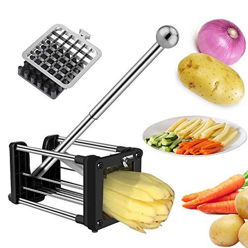 Pommes Frites Schneider, Laxus Edelstahl Pommesschneider Kartoffelschneider...