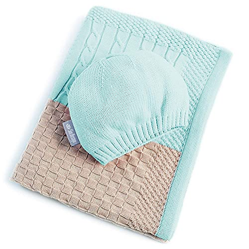 sei Design Baby Decke aus 100% Baumwolle 90 x 70 | kuschelige Strickdecke +...