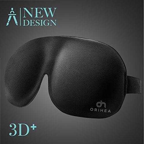 OriHea Schlafmaske, absolute Dunkelheit Schlafbrille,3D PLUS große...