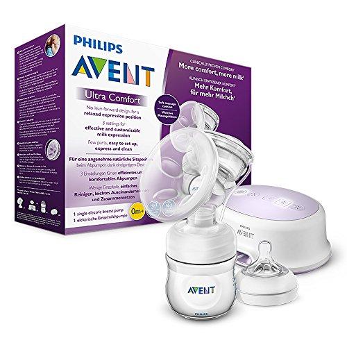 Philips AVENT SCF332/31 Elektrische Komfort- Einzelmilchpumpe, weiß