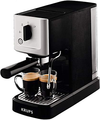Krups Calvi Steam & Pump Espressomaschine XP3440 | Edelstahl | 1 L...
