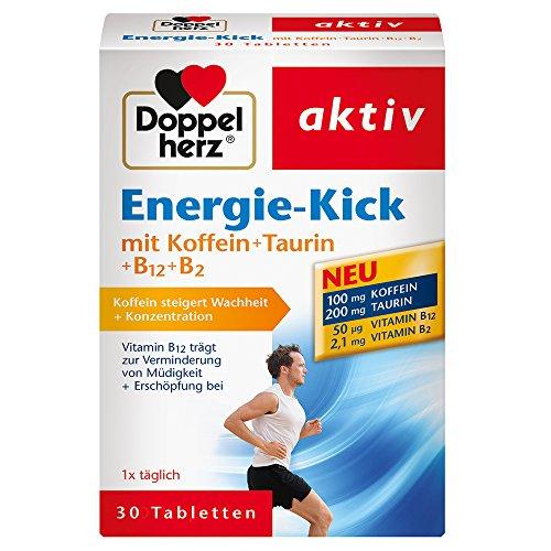 Doppelherz Energie-Kick mit Koffein + Taurin + B12 + B2 / Koffein zur...