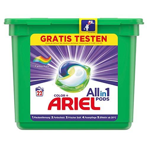 Ariel Waschmittel Pods All-in-1, Color Waschmittel, Farbschutz, 22...