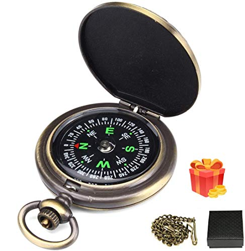 Charminer Kompass Outdoor,Premium Portable Messingkompass Klassischer...