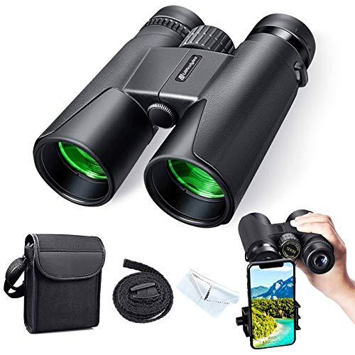 Fernglas 12x50 Fernglas Kompakt, HD Wasserdicht Binoculars, Wandern, Jagen,...