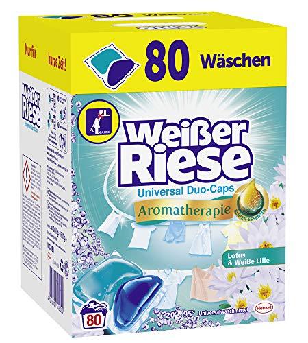 Weißer Riese Universal Duo-Caps Aromatherapie, 80 (1x80) Waschladungen,...