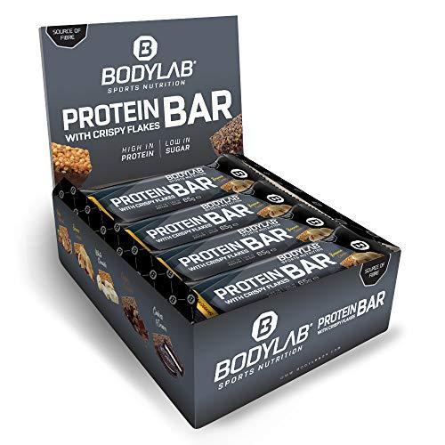 Bodylab24 Crispy Protein Bar 12 x 65g, Protein-Riegel mit 27g Eiweiß pro...