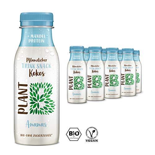 PLANT B Pflanzlicher BIO Kokos-Drink mit Ananas / Veganer Trink Snack mit...