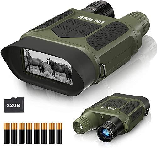 ESSLNB Nachtsichtgerät 7X Vergrößerung mit 8 AA Batterien und 32GB Karte...