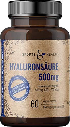 Hyaluron Kapseln Hochdosiert Aus Bester Qualität 500 mg Fermentiert Als 60...