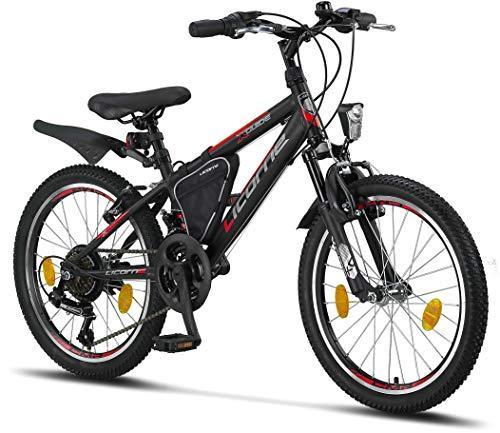 Licorne Bike Guide Premium Mountainbike in 20 Zoll - Fahrrad für Mädchen,...