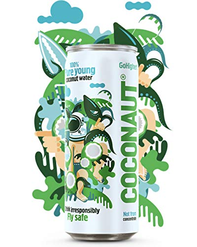 COCONAUT Kokoswasser Still (12 x 320ml Dose) Pur, Vegan, Paleo -...