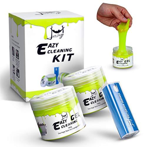 Eazy Cleaning Kit 2x PREMIUM Reinigungsgel und 1x Eazy Screen Cleaner -...