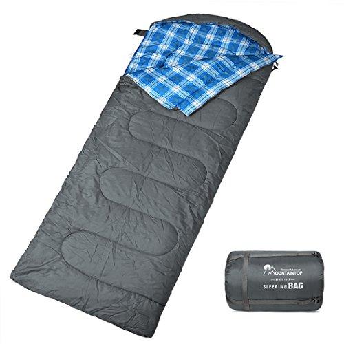 MOUNTAINTOP Schlafsack, Ultraleicht mit kleinstem Packmaß Reiseschlafsack...