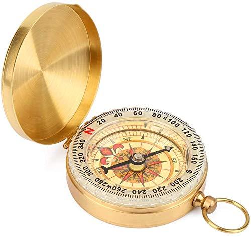 Mitening Kompass Outdoor, Portable Messingkompass Taschenkompass...