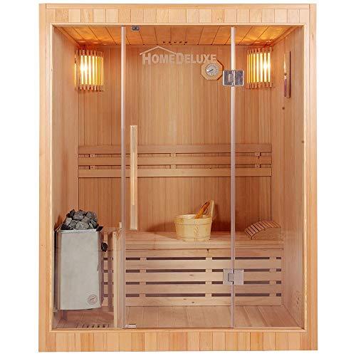 Home Deluxe - Traditionelle Sauna - Skyline L - Holz: Hemlocktanne - Maße:...