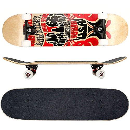 FunTomia Skateboard mit ABEC-9 Kugellager Rollenhärte 100A und 100%...