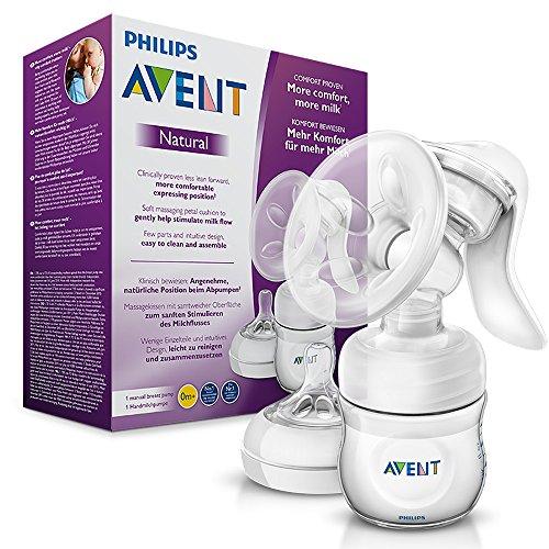 Philips Avent Komfort-Handmilchpumpe, inkl. Naturnah-Flasche, SCF330/20...