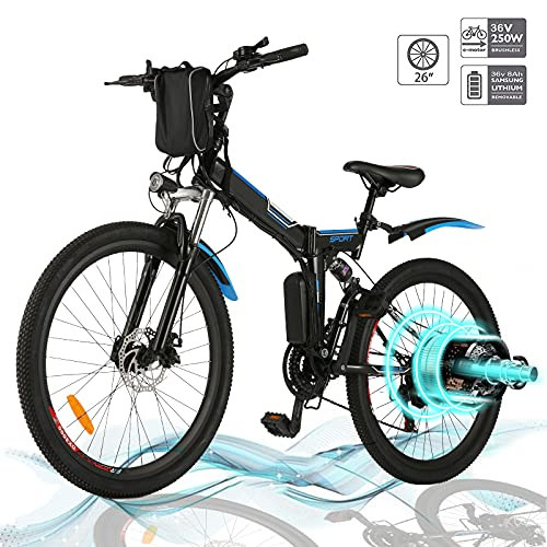 Hiriyt Faltbares E-Bike,36V 250W Elektrofahrräder, 8A Lithium Batterie...
