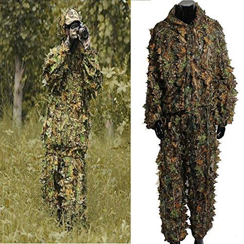 OUTERDO Tarnanzug, Blatt Ghillie Anzug Woodland, Camouflage Kleidung 3D...